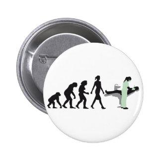 evolution OF woman female dentist Pinback Button