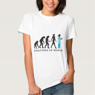 evolution of woman female doctor camisas