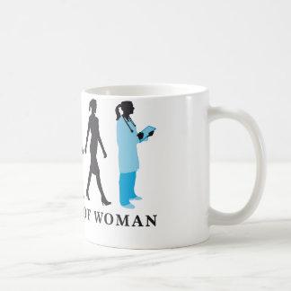 evolution OF woman female doctor Coffee Mug