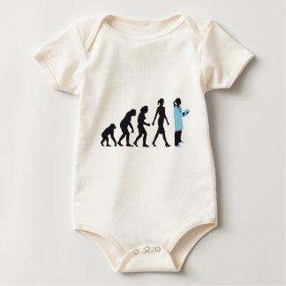 evolution of woman female doctor mameluco de bebé