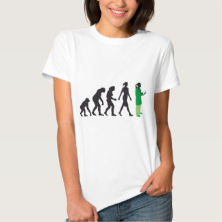 evolution of woman female doctor playera