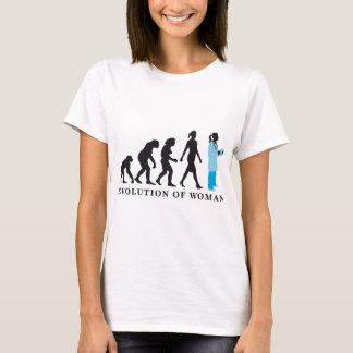evolution OF woman female doctor T-Shirt