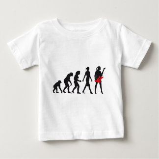 evolution OF woman female e-guitar more player Baby T-Shirt
