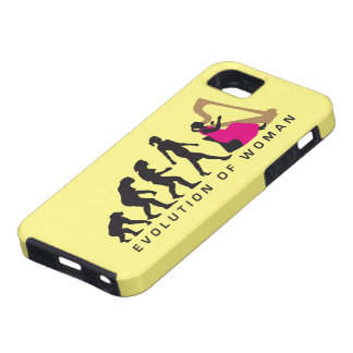 evolution OF woman female harp more player iPhone SE/5/5s Case