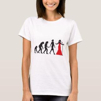Evolution OF woman female opera more singer T-Shirt