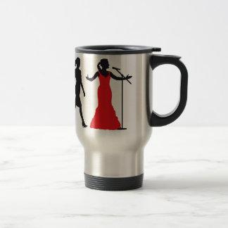 Evolution OF woman female opera more singer Travel Mug