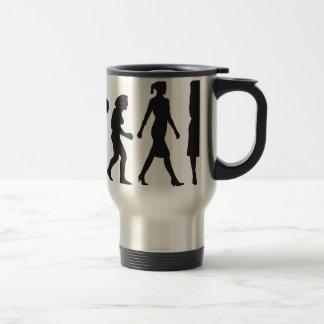 evolution of woman female teacher kaffee tassen