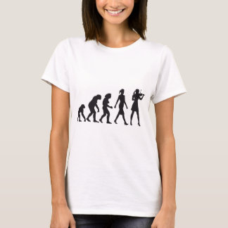 evolution OF woman female violin more player T-Shirt