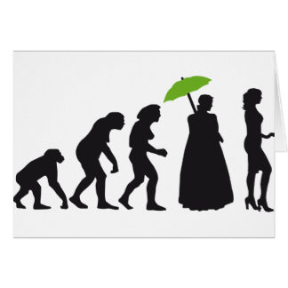evolution OF woman Greeting Card