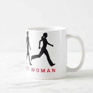 evolution OF woman jogging Coffee Mug