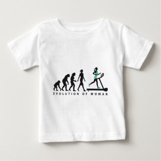 evolution OF woman jogging on A treadmill fitness Baby T-Shirt