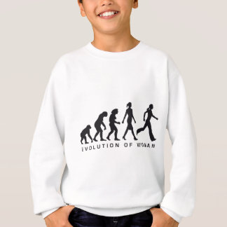 evolution OF woman jogging Sweatshirt