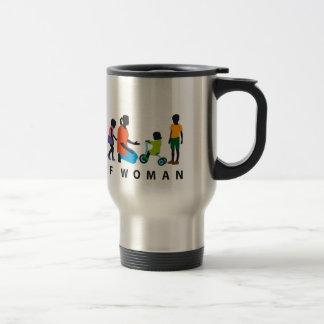 evolution OF woman kindergarten educator childcare 15 Oz Stainless Steel Travel Mug