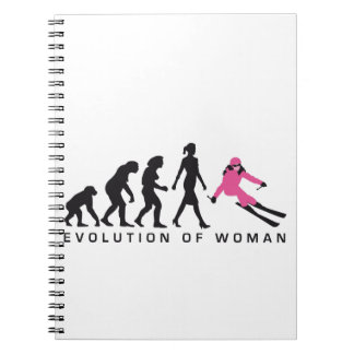 evolution OF woman skiing Notebook