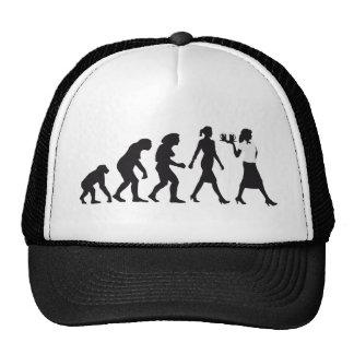 Evolution OF woman waitress Trucker Hat