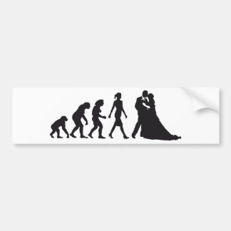 evolution OF woman wedding Bumper Stickers