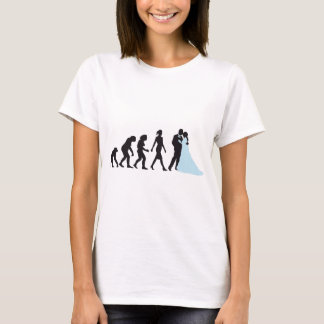 evolution OF woman wedding T-Shirt