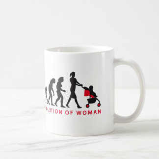 evolution of woman with baby taza clásica