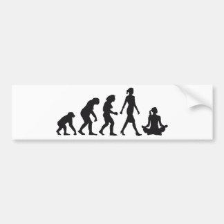 evolution OF woman yoga position Bumper Sticker