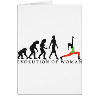 evolution OF woman yoga position Greeting Card