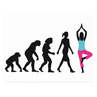 evolution OF woman yoga position Postcard
