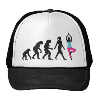 evolution OF woman yoga position Trucker Hat