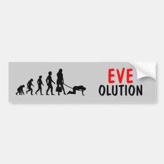 Evolution of women car bumper sticker