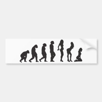 Evolution of Women Funny Bumper Sticker