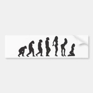 Evolution of Women Funny Bumper Sticker