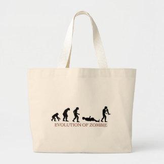 Evolution of Zombie Jumbo Tote Bag