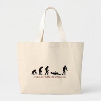 Evolution of Zombie Large Tote Bag