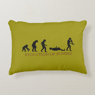 Evolution of Zombie Accent Pillow