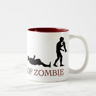 Evolution of Zombie Two-Tone Coffee Mug