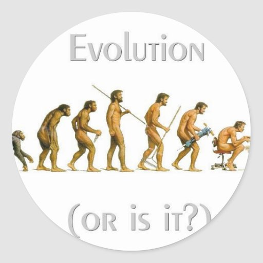 Evolution or Is It Classic Round Sticker