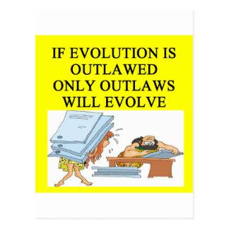 evolution outlaw postcard