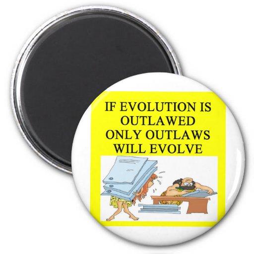 evolution outlaw refrigerator magnet