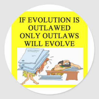 evolution outlaw round stickers