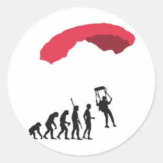 evolution Parachute Classic Round Sticker