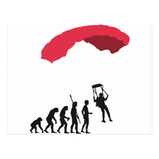 evolution Parachute Postcard