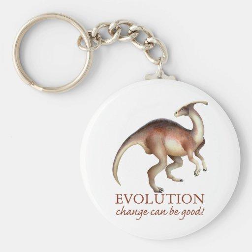 Evolution parasaurolophus key chain