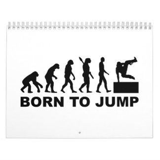 Evolution Parcouring born to jump Calendar