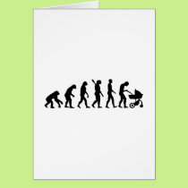 Evolution parents baby card