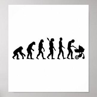 Evolution parents baby poster