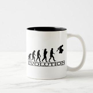 Evolution Parkour Two-Tone Coffee Mug