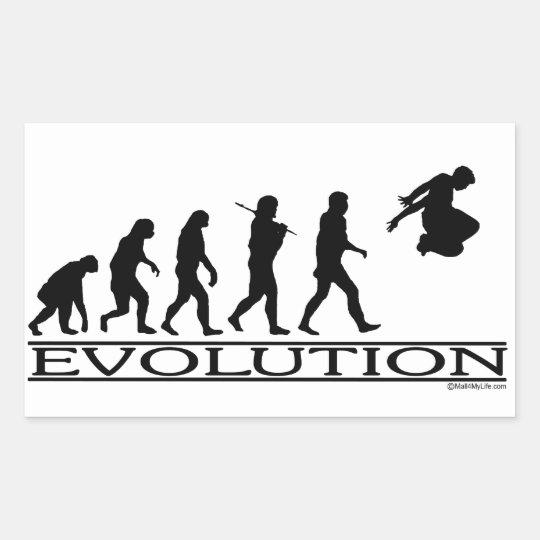 Evolution Parkour Rectangular Sticker