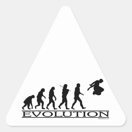 Evolution Parkour Triangle Sticker