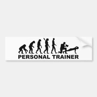 Evolution personal trainer bumper sticker