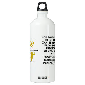 Evolution Phyletic Gradualism Punctuated Equilibrm Aluminum Water Bottle