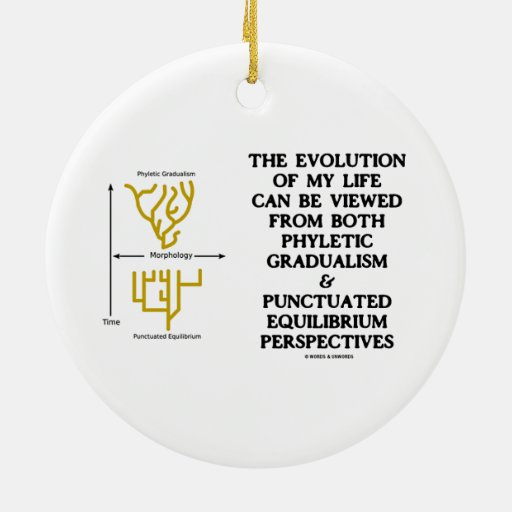 Evolution Phyletic Gradualism Punctuated Equilibrm Christmas Tree Ornaments