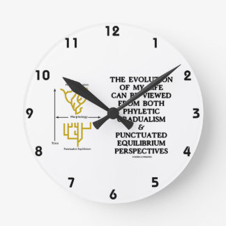 Evolution Phyletic Gradualism Punctuated Equilibrm Round Clock